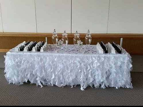 Ruffle Table Skirt Cake Table
