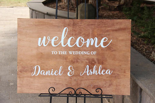 Stained Personalized Welcome Sign