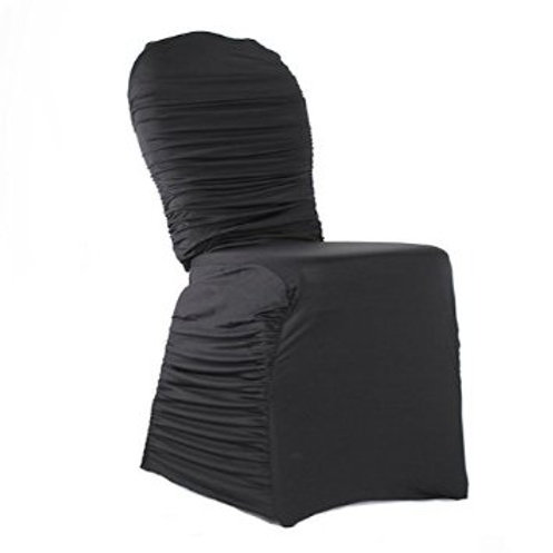Black Ribbed Chair Covers