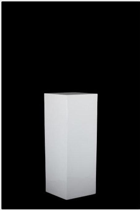 White Straight Plinth Medium