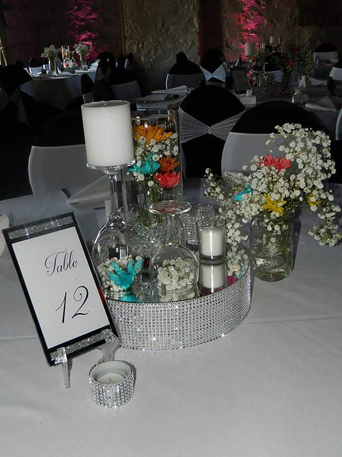 Bling Frame Table Number