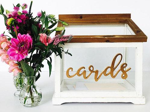 Glass Cards Box Wishing Well