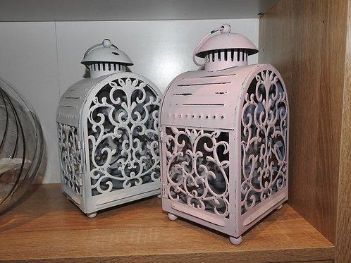 Rustic Pink & White Lantern