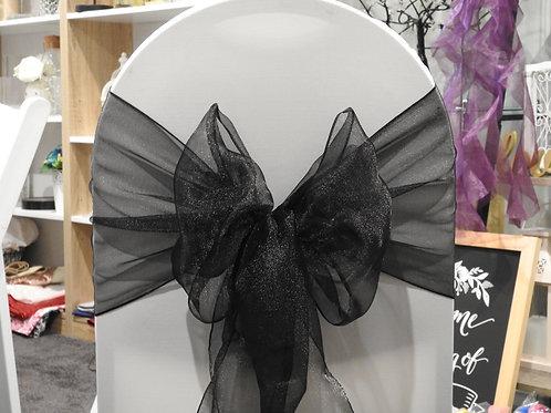 Black Designer Organza