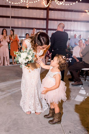 Bride With The Flower Girl