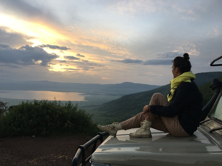 lever du soleil cratère du ngorongoro tanzanie