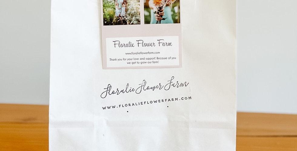 Mystery Dahlia tuber bag