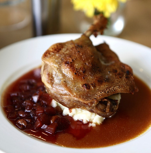 Duck Confit with Plum Compote