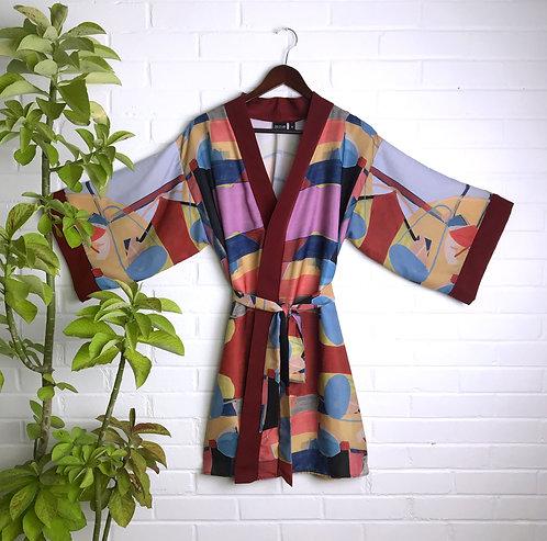 Bather Print Lounge Robe
