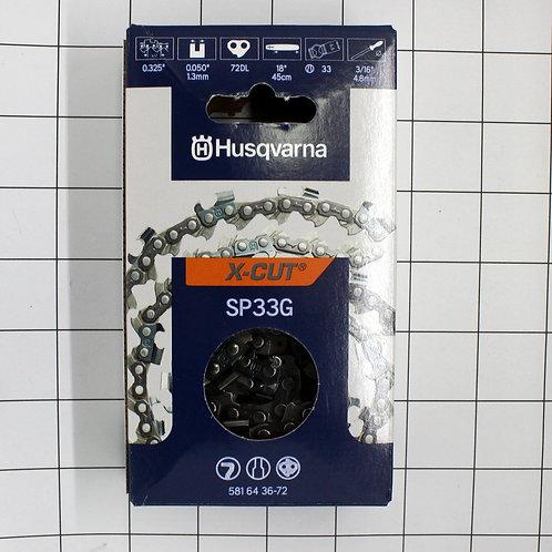 "SP33G 18"" Chain, .325"" pitch, .050 gauge, 72 drag links."