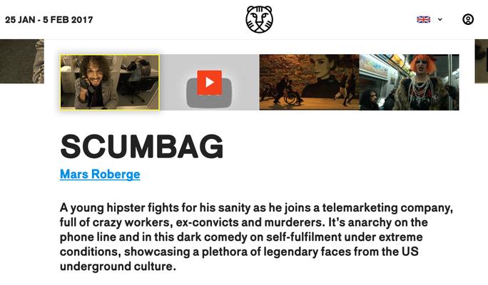 Scumbag World Premiere at IFFR