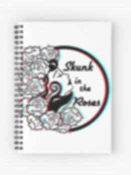 Skunk in the Roses Notebook