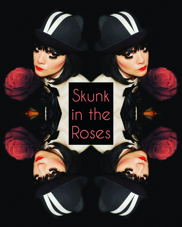 Skunk in the Roses