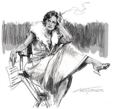 Drawing by Chris Turner of Debra Haden