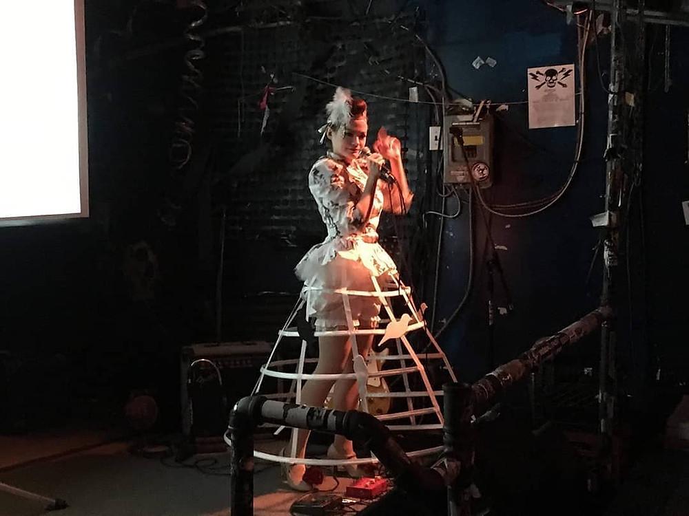 Debra Roberge (Matriarch of all Roses) performs at the Bovine in Toronto for Skunk in the Roses world debut #debrahaden #debraroberge #skunkintheroses