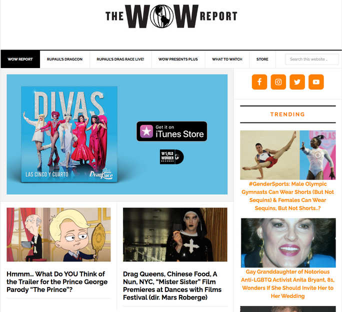 """""""The WOW Report"""" article about """"Mister Sister"""""""