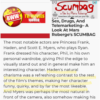 Scumbag review in Broadway World