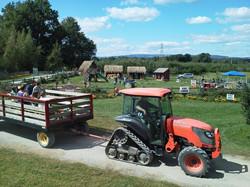 Hayride Takes you Around the Farm