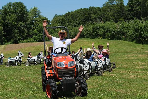 cow train rides summer birthday party locations hudson valley ny.JPG
