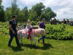 pony rides summer birthday party Hurds Family Farm