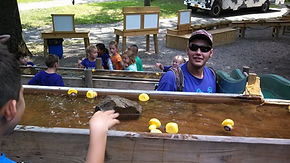Rubber duck race at Hurds Family Farm