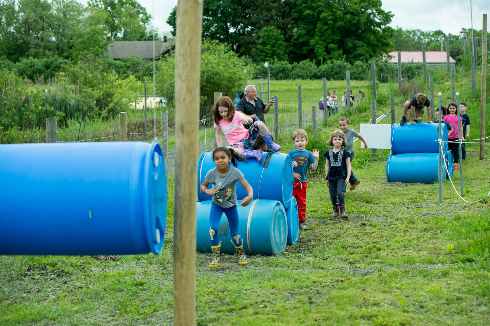 fall field trip barrels obstacle course