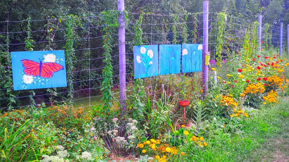 scenery pollinator garden