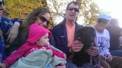 Baby and Dog Take a Hayride