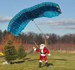 Santa Skydives on Black Friday at Hurds Family Farm in Modena outdoor fun winter