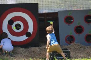 tennis ball target shooting outdoor activity
