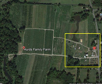 google earth snipet of hurds family farm