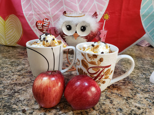 In LOVE Apple Mug Cake