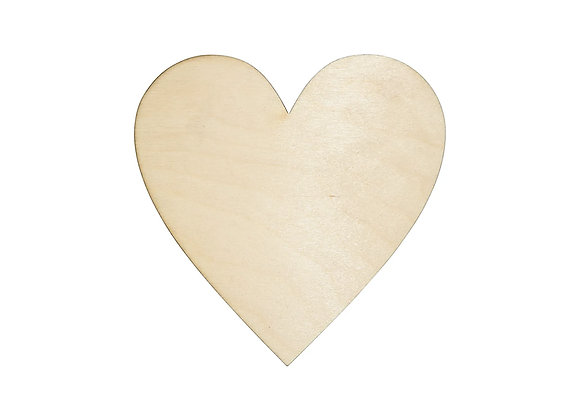 Small Wooden Heart - Pack of 24