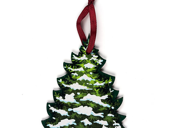 Christmas Tree White - Wooden Tree Hanger - Pack of 12