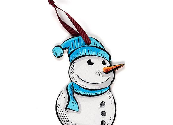 Snowman - Wooden Tree Hanger - Pack of 12