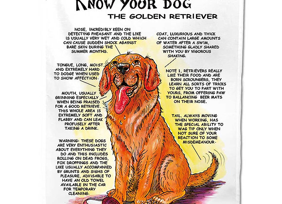 Golden Retriever - Tea Towel - Know Your Dog - Pack of 6