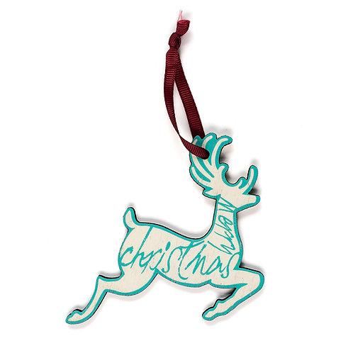 Reindeer - Wooden Tree Hanger - Pack of 12
