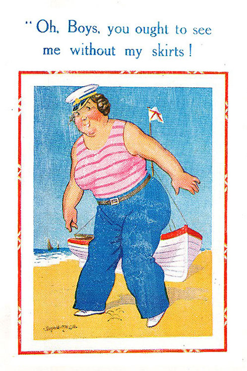 Skirts - Donald McGill - Postcards Pack of 48