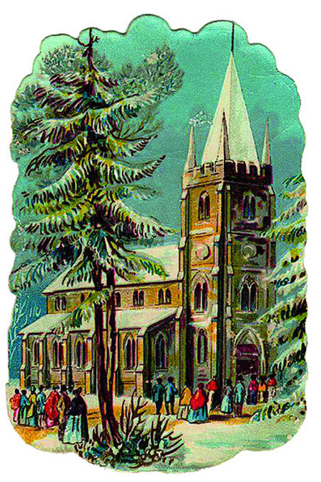 Wooden Christmas Card 75 - Pack of 6