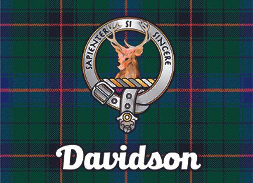 Davidson: Glass Coaster, Pack of 6