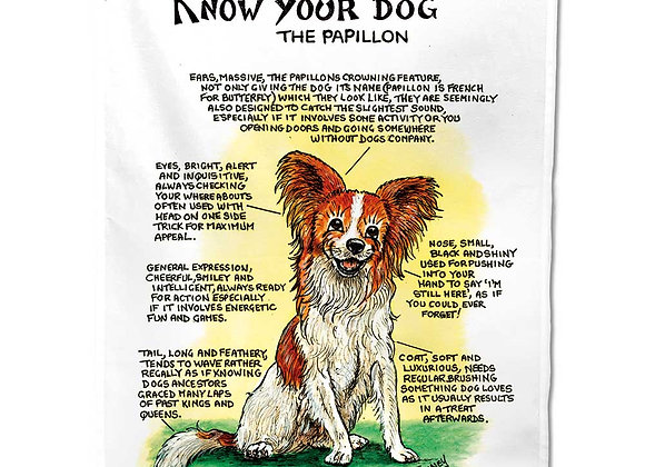 Papillion - Tea Towel - Know Your Dog - Pack of 6
