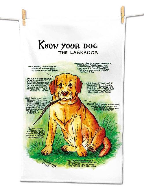 Labrador - Tea Towel - Know Your Dog - Pack of 6