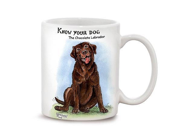 Chocolate Labrador - 11oz Mug - Know Your Dog - Pack of 6
