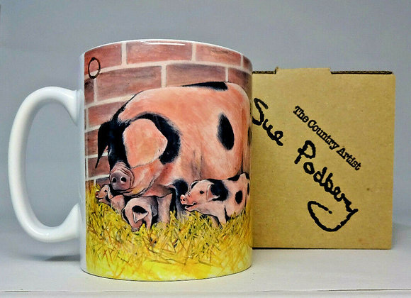 Gloucester Old Spot & Piglets - Mug 10oz - Sue Podbery - Pack of 3