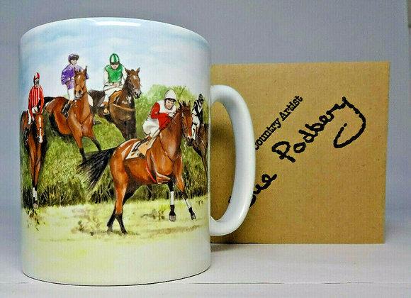 Horse Racing - Mug 10oz - Sue Podbery - Pack of 3