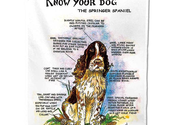 Springer Spaniel - Tea Towel - Know Your Dog - Pack of 6