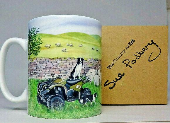 Quad Bike - Mug 10oz - Sue Podbery - Pack of 3