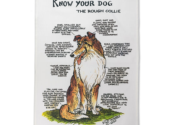 Border Collie - Tea Towel - Know Your Dog - Pack of 6