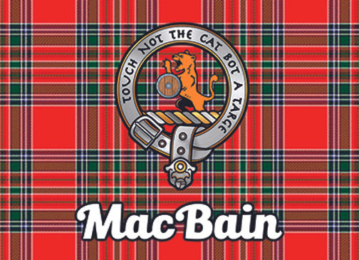 MacBain: Glass Coaster, Pack of 6