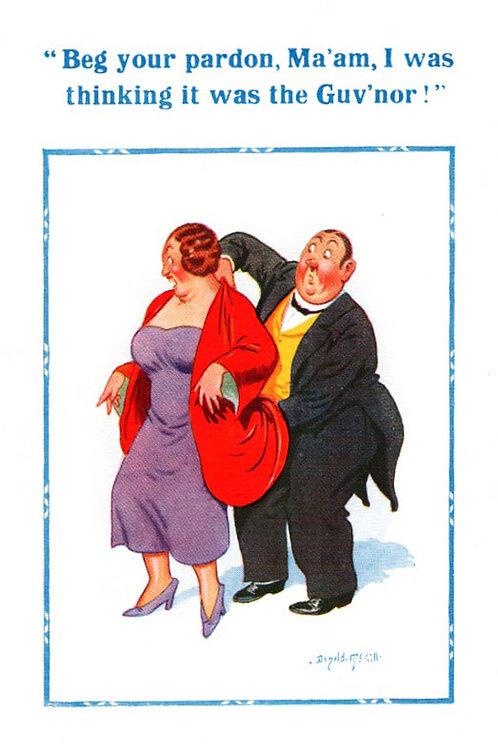 Beg Your Pardon - Donald McGill - Postcards Pack of 48